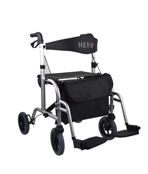 Hero Medical Wheelchair/Rollator - FUSION 2 IN 1 - Hero 1