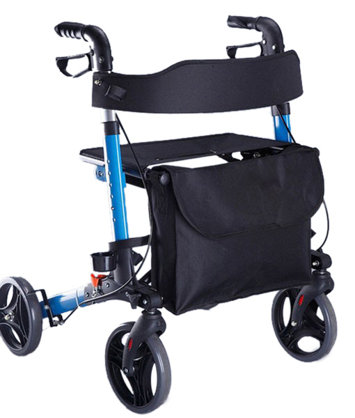 Travel Lite Portable Outdoor Seat Walker with Seat and Bag + Crutch Holder 7