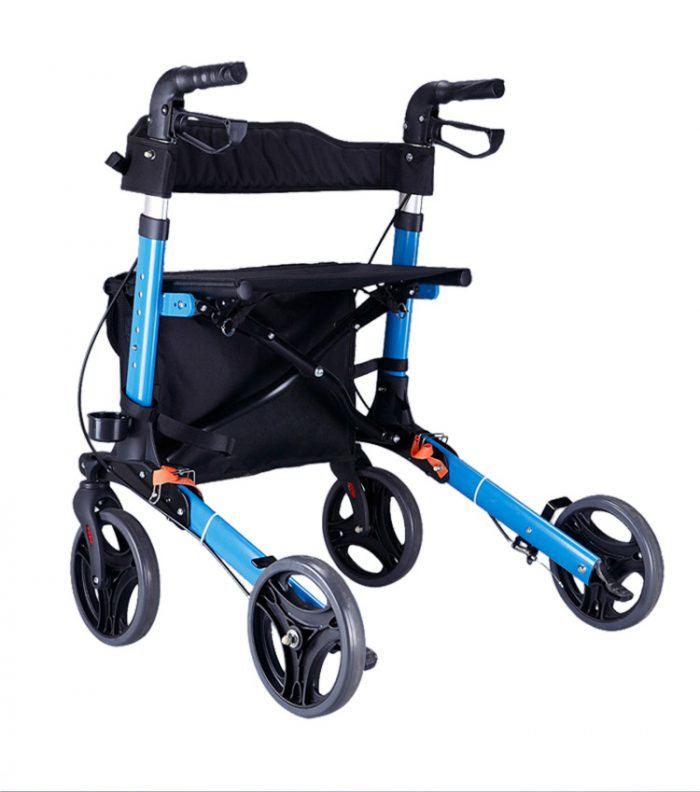 Travel Lite Portable Outdoor Seat Walker with Seat and Bag + Crutch Holder 6