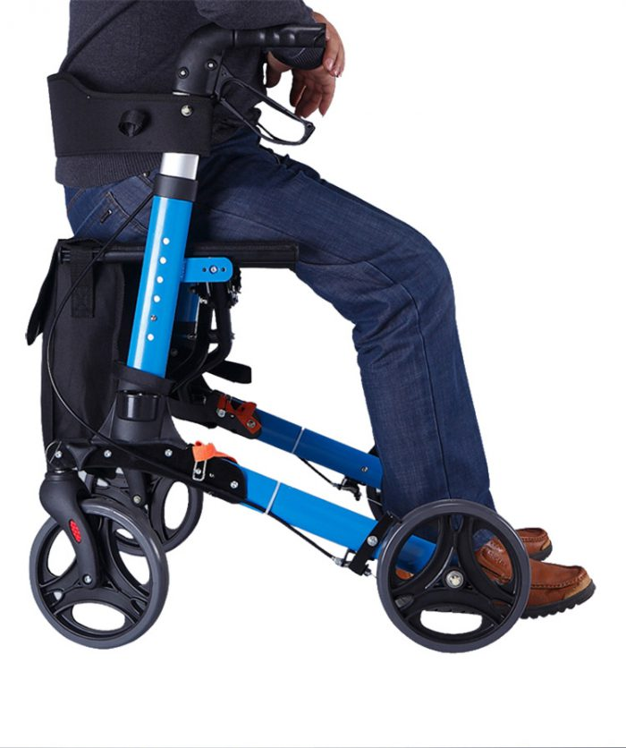 Travel Lite Portable Outdoor Seat Walker with Seat and Bag + Crutch Holder 4