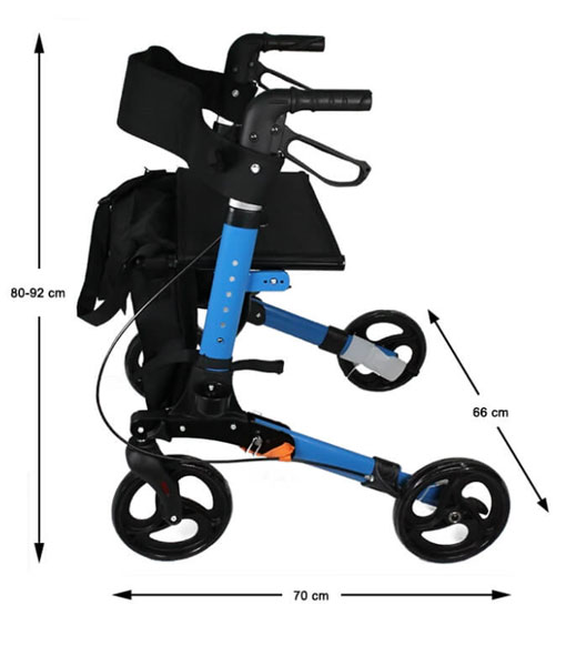 Travel Lite Portable Outdoor Seat Walker with Seat and Bag + Crutch Holder 3