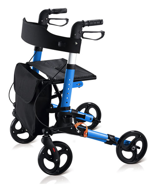 Travel Lite Portable Outdoor Seat Walker with Seat and Bag + Crutch Holder 1